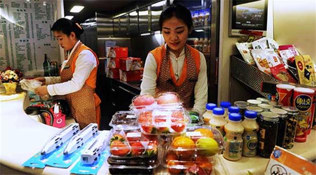 Größere Auswahl an Mahlzeiten in Hochgeschwindigkeitszügen