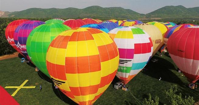 Hei?luftballon-Festival 2017 in Ostchina