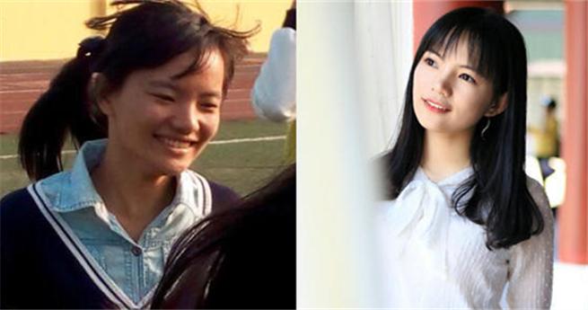 Fotos dokumentieren Studentinnen vor und nach dem Studium