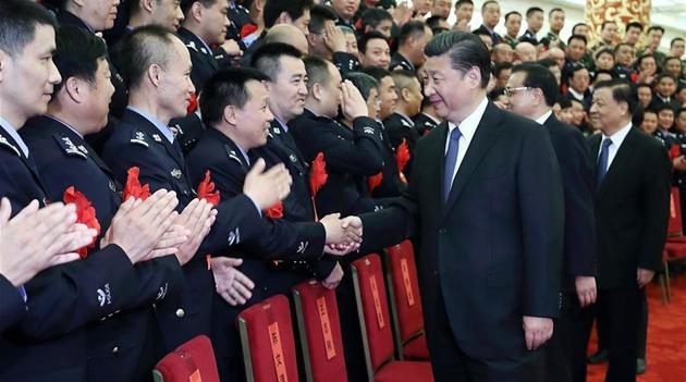 Chinas Staatspr?sident ruft Polizei zu vollem Einsatz auf