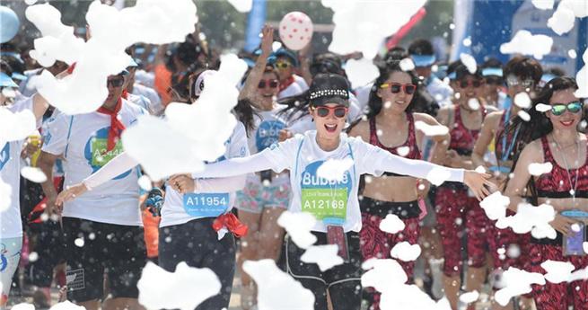 Bubble-Run im nordostchinesischen Liaoning
