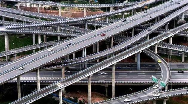 Ein komplizierter Verkehrsknoten in Chongqing