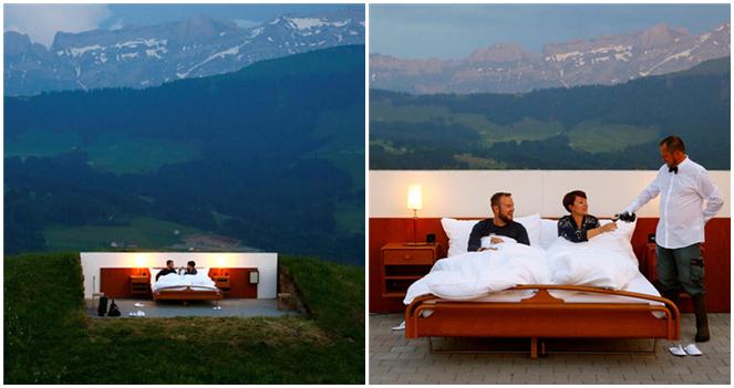 Schweiz: Hotel ohne Dach und Wände emfängt erste Gäste
