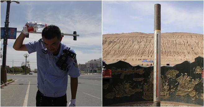 "Xinjiang: Temperatur auf dem ""Feuerberg"" erreicht 70 Grad"