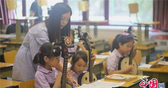 Kinder sind die Hoffnung der Verbreitung der Volksmusik-Kultur