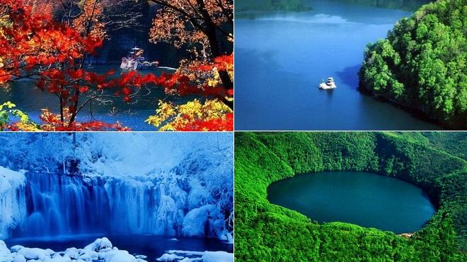 Longwanqun,Nationaler Waldpark, Reise, Urlaub, China, Vulkan,Kraterseen