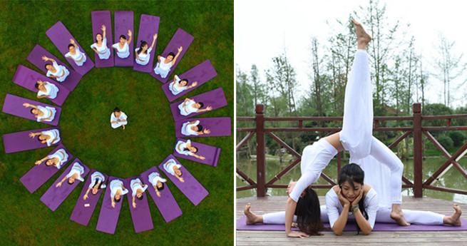 Weltyogatag in Südchina gefeiert