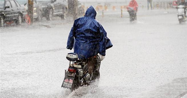 Heftige Regenfälle in Beijing