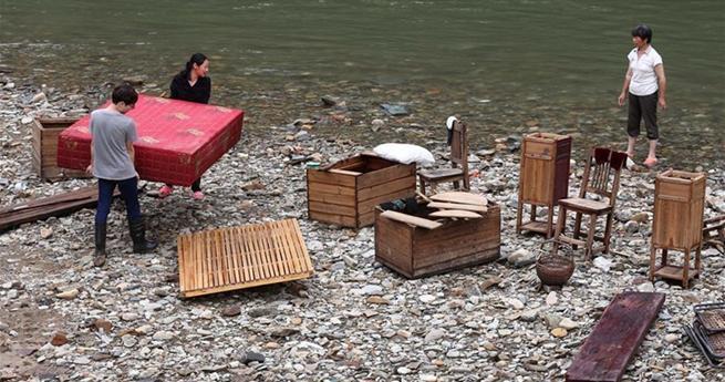 Nachwirkungen der Flut in Ostchina