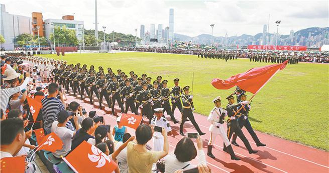 Der Charme der Hongkonger Garnison der Chinesischen Volksbefreiungsarmee