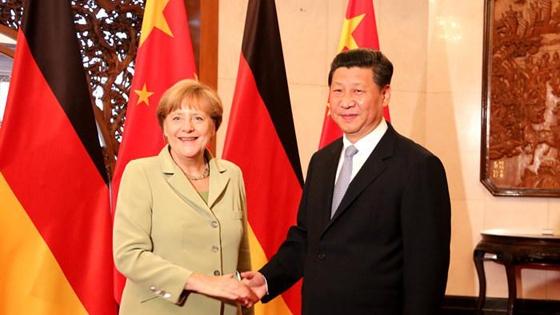 China, Russland ,Deutschland, Xi, Putin, Merkel