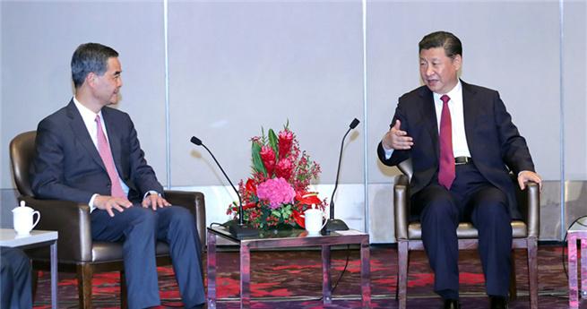 Xi empfängt HKSAR-Chefadministrator
