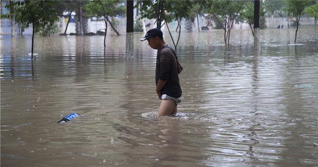 Hochwasser überschwemmt Nordchina