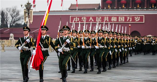 Die Leibgarde der Nationalflagge