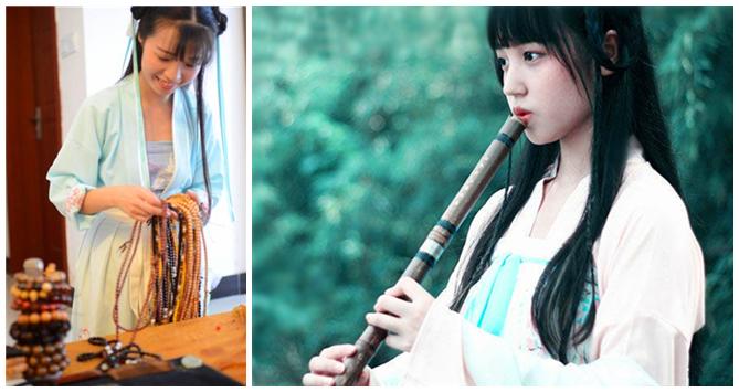 Traditionelle Han-Kleidung fasziniert junge Chinesinnen