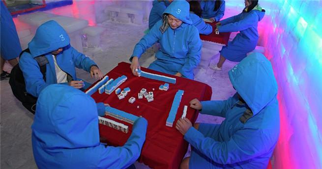 "Hochsommer: Mahjongg im ""Eiskeller"" spielen"