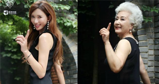 Fotos: 70-jährige posiert wie berühmte Schönheit