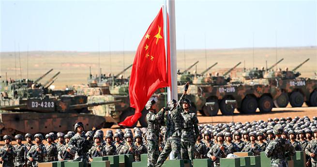 Militärparade zum 90-jährigen Bestehen der Volksbefreiungsarmee