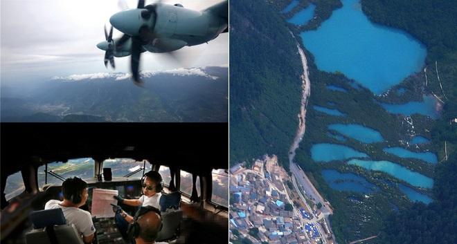 Erdbeben in China: Luftwaffe erkundet Katastrophengebiet