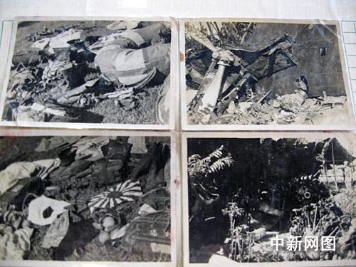 また、撃墜された日本軍の爆撃機を映した写真も4枚あり、「撃墜された『墨... 南京に攻めこんだ旧