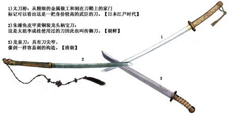 中日韓の刀: 中国刀は華麗、日本...