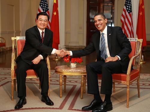 G20金融サミットに出席するため、イギリスを訪問中の中国の胡錦涛国家主席は1日、ロンドンでオバマ米大統領と会談した。これは、オバマ大統領の就任後初めての中米首脳会談となる。