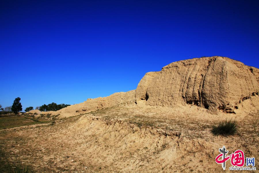 元中都遗址元位于河北省张北县县城西北15公里处馒头营乡的白城子。图为700年前的繁华寥落:元中都遗址。 中国网图片库 贾建峰/摄