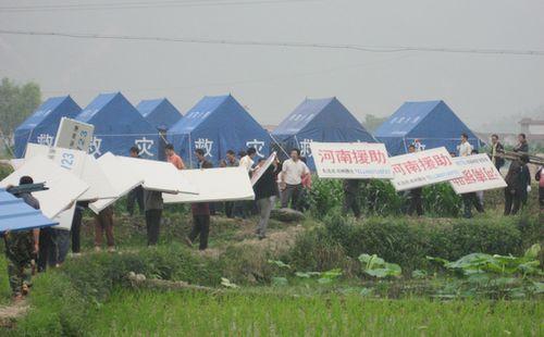 写真:河南省の支援によって建設された四川大地震被災者配置センター