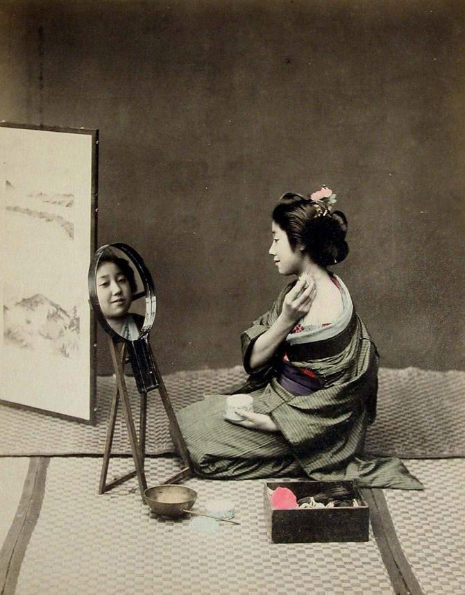 昔の日本の芸者の貴重なカラー写真(15枚)_China.org.cn