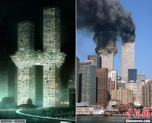 韓国 WTCビルそっくりのビルが論...