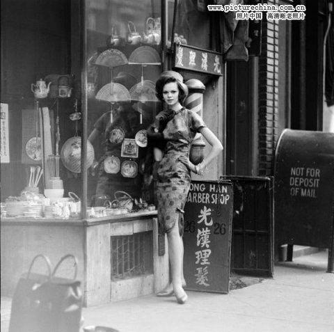 1960年代の西洋女性のチャイナド...