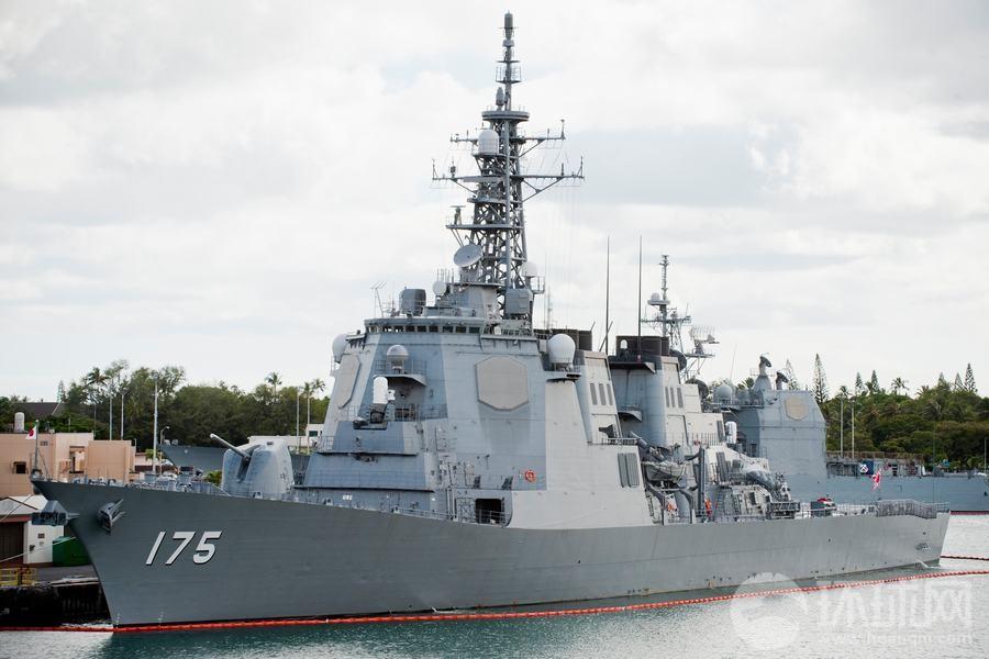 パール・ハーバーに寄港する日本海上自衛隊の護衛艦「みょうこう」 米国が...  環太平洋合同演習