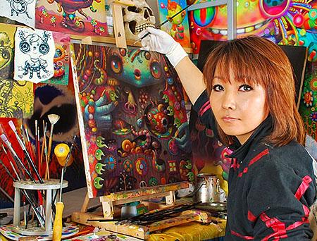 日本人美人画家が描く不思議な油絵 東瀛怪談 China Org Cn