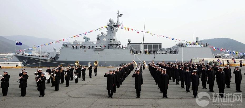 韩国国产仁川级导弹护卫舰首舰正式服役