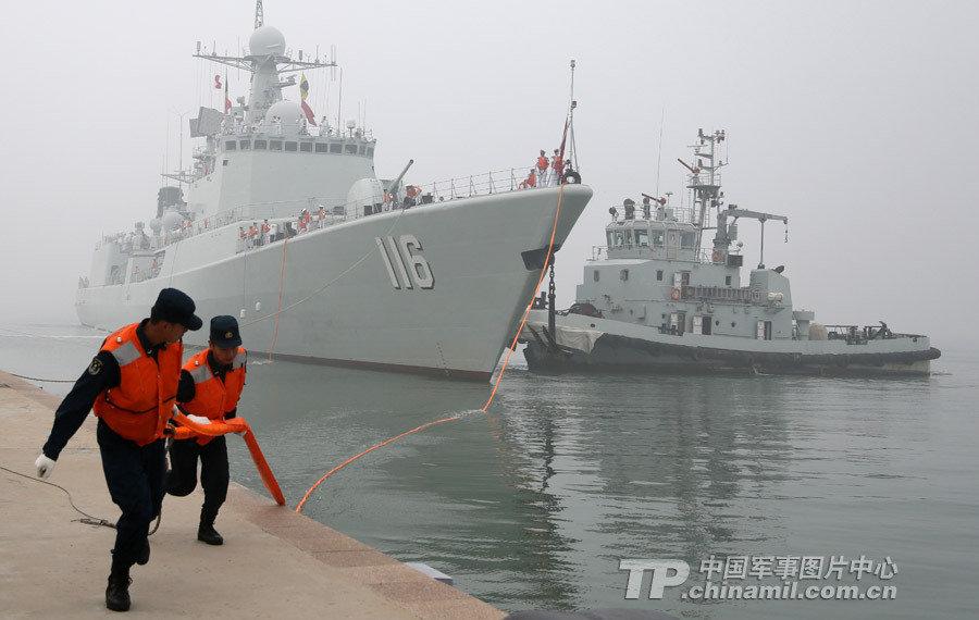 中国海軍北海艦隊、日本一周を終...