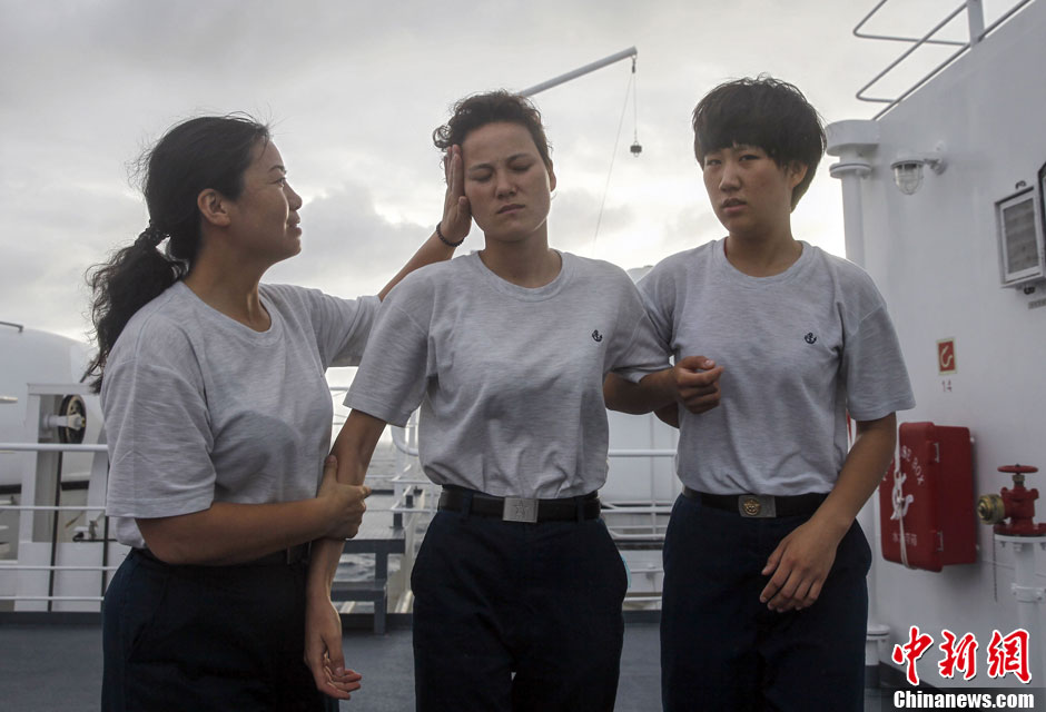 中国海軍の女性船員、大洋で大活躍コメント