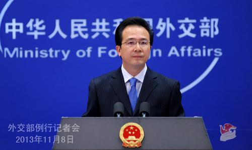 外交部の洪磊報道官