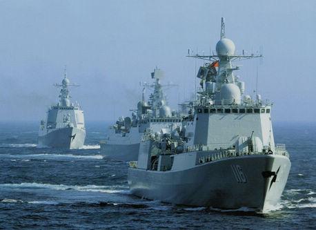 中国海軍、新型戦艦の勇姿をとらえた写真を公開
