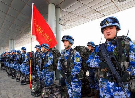 中国海軍陸戦隊、寒冷地での訓練を初実施