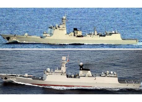 中国東海艦隊、2日連続で第一列島線を突破