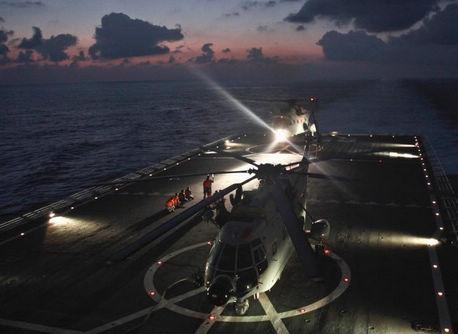 中国海軍、マレーシア不明機捜索に全力を尽くす
