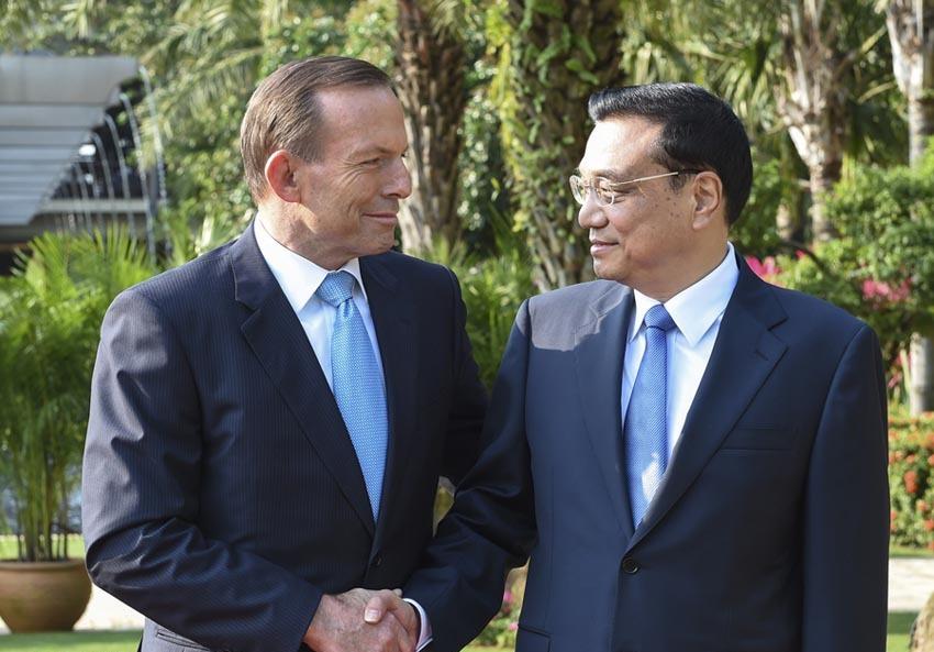 李克強総理がアボット豪首相と会談