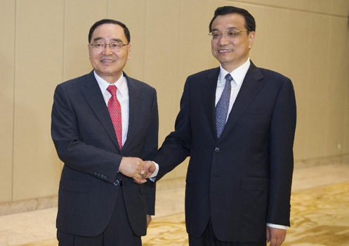 ボアオ?アジアフォーラム」李首相、韓国首相と会談