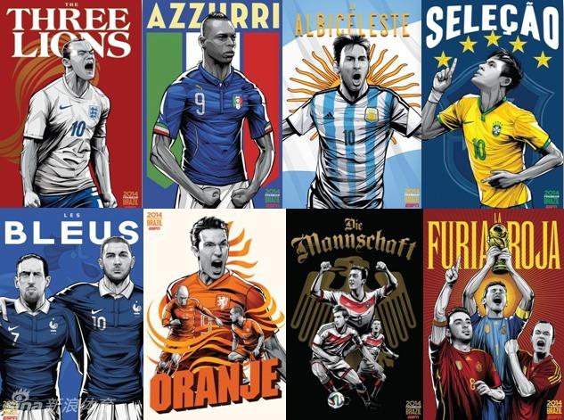 ESPNが作成したW杯出場32カ国のポスターコメント