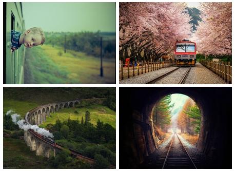 旅の醍醐味 列車から見る風景