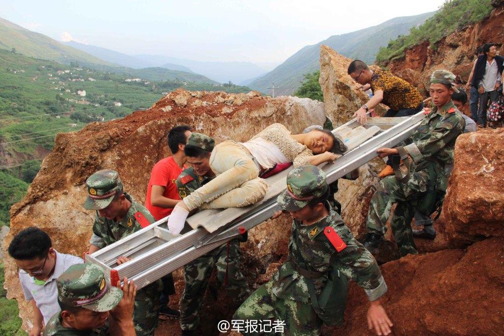 魯甸地震 救援の最前線に立つ中...