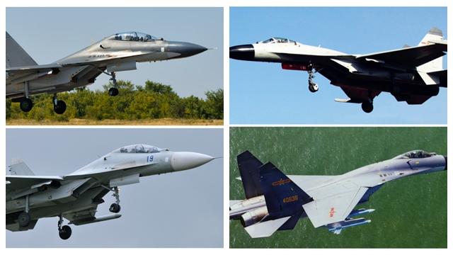 中国空・海軍の同型機、塗装などの違いを比較