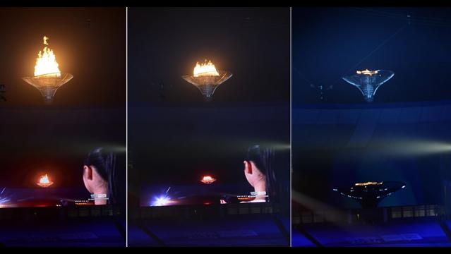 南京ユース五輪閉会式 聖火台の火が消える
