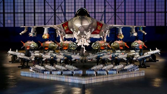 米軍F-35の搭載兵器一式が公開