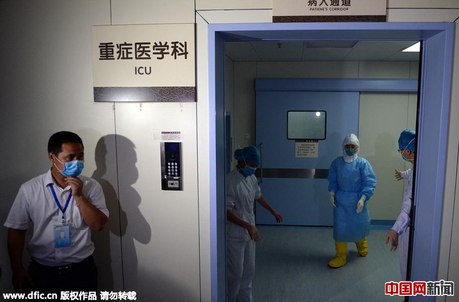 MERS患者の治疗现场を直击 広东省恵州中心